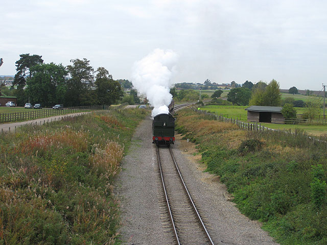 Steaming out of Prestbury Park