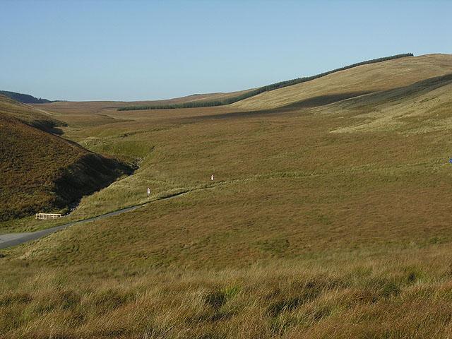 Moorland at the head of Cwm Ystwyth