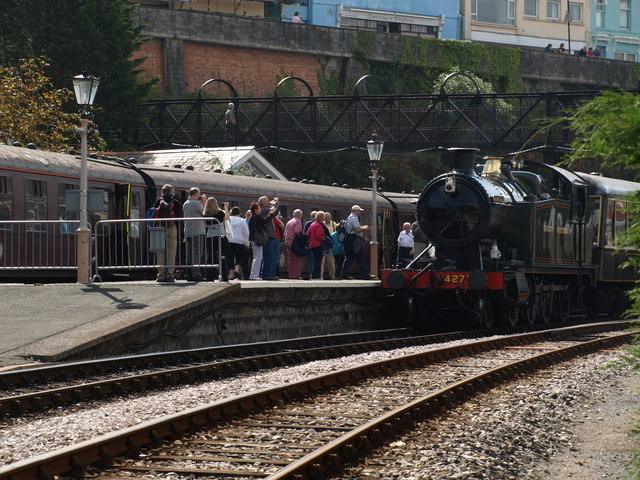 Railway enthusiasts at Kingswear