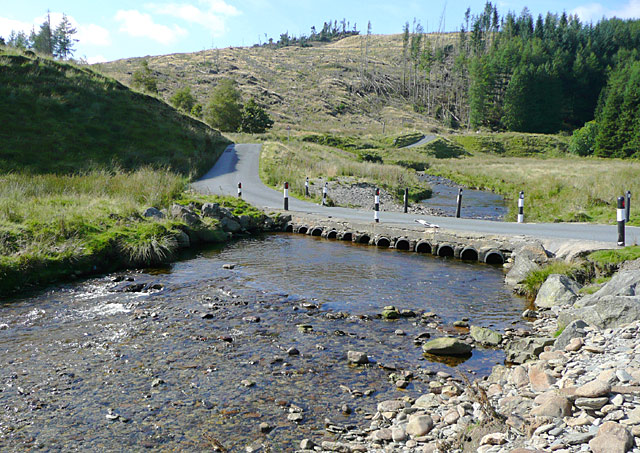 Irish Bridge across the Afon Irfon, Powys