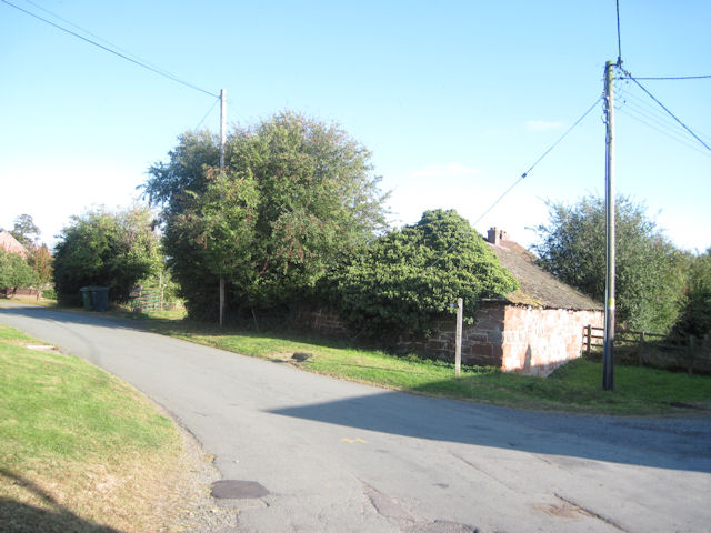 Road junction in Shrawardine