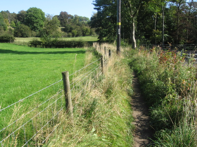 Footpath near River Noe at Hope