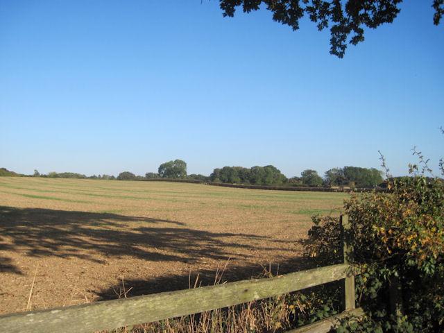 Stubble field near Shrawardine