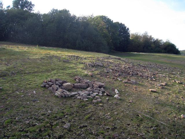 Building Remains at Bewl Water Reservoir