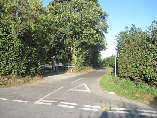Road Junction at Wilcott Marsh