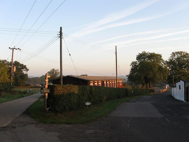 Footpath Junction, Plumpton Racecourse