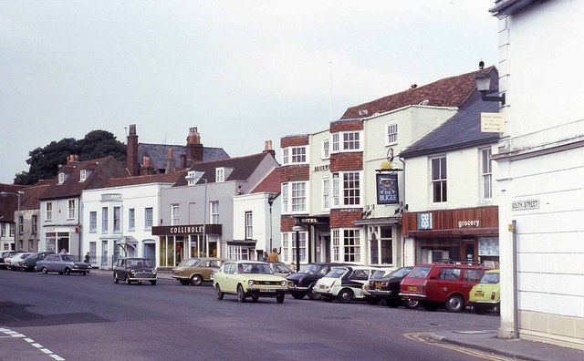Looking towards the village square from South Street (1978)