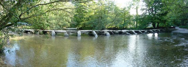 Exmoor : The River Barle & Tarr Steps Clapper Bridge