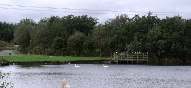 Pier at Broadwood Loch