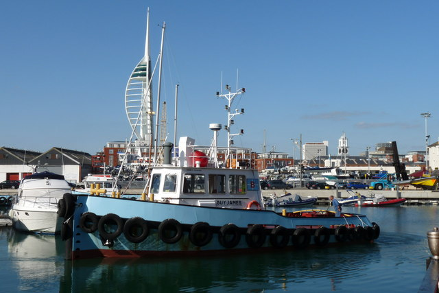 Guy James in Camber Dock, Portsmouth