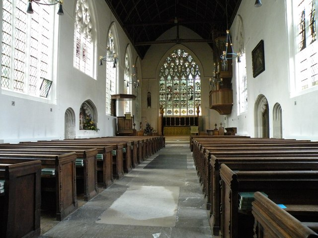 The interior of St. Mary the Less church