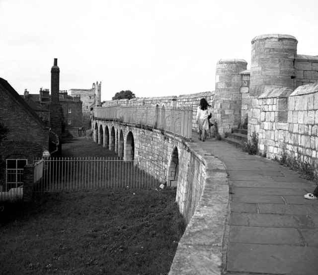 York:  City walls near Monk Bar