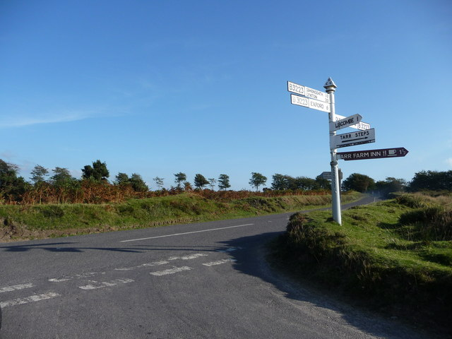 Exmoor : The B3223 & Signpost