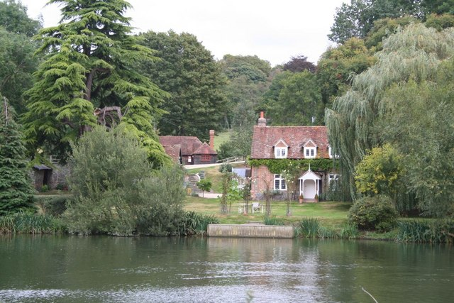 Cottage across the river