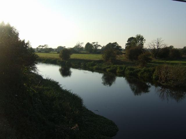 River Trent upstream of Yoxall Bridge
