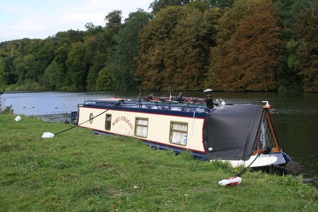 Moored on the bank