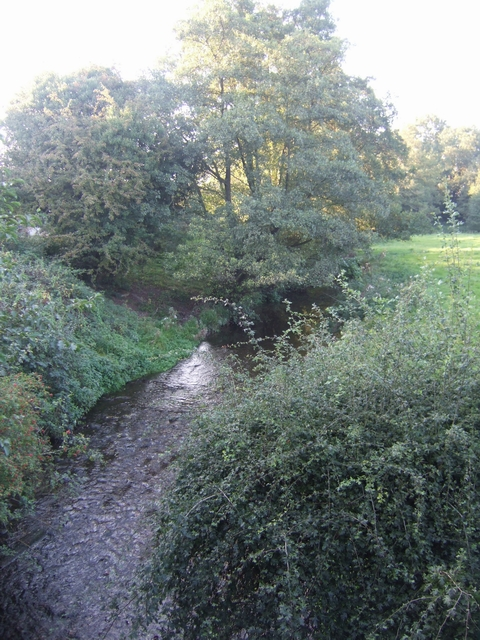 River Swarbourn upstream of Woodlane Bridge
