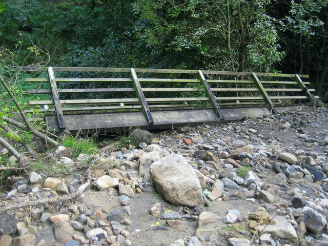 Obsolete Footbridge beside Blackton Beck
