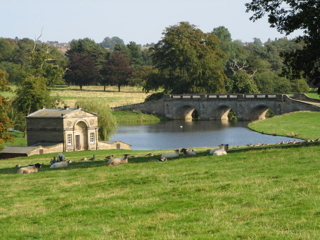 Boat House and Bridge - Kedleston Hall