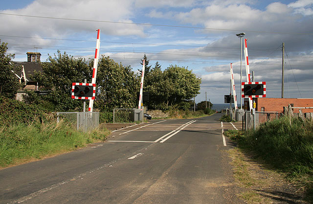 A level crossing on the East Coast Line