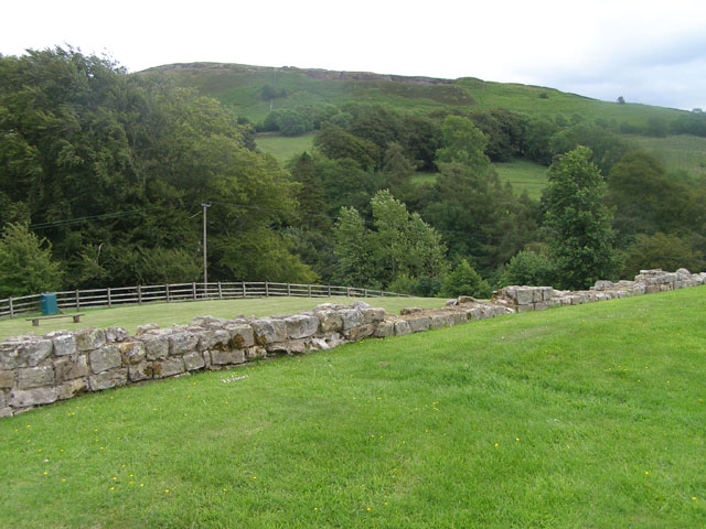 Eastern perimeter of the Vindolanda Roman Fort site
