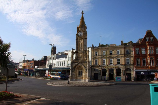 Clock tower roundabout in Torquay