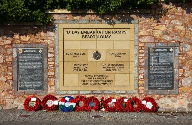 D Day memorial in Torquay