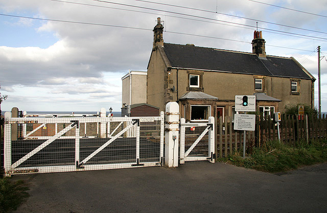A level crossing at Spittal