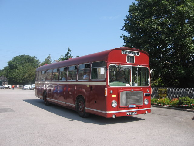 Bus in Bitton Station Yard