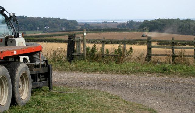Hallington, permissive footpath