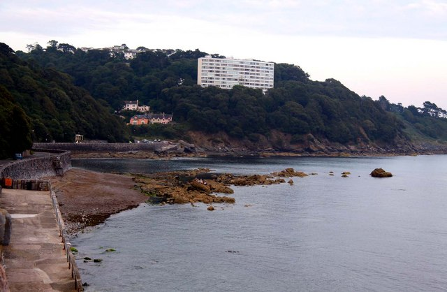 Meadfoot Beach and the Kilmorie flats in Torquay