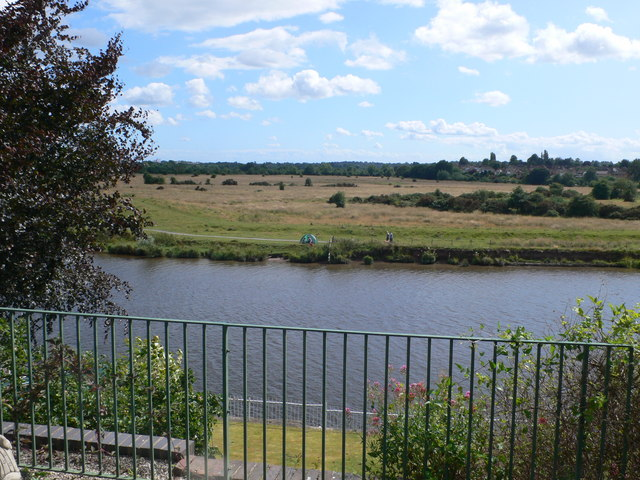 The Meadows from across the Dee