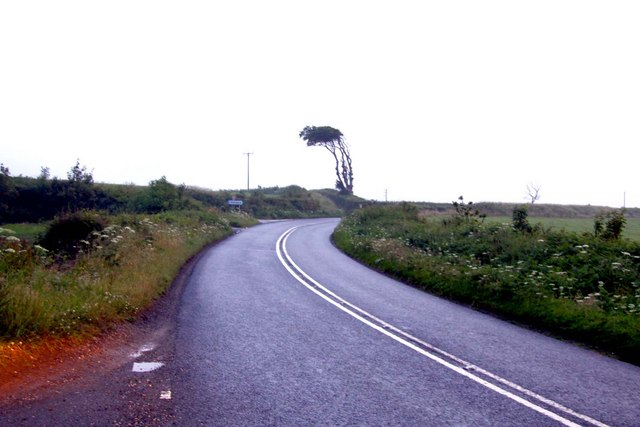 The A39 near Spanny Hone