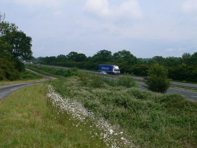 The A483 at Broadoak