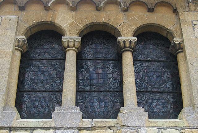 Window detail, Norman church, Southam