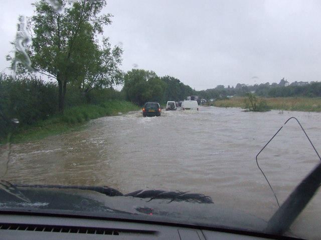 Near Stoulton in the flood July 2007