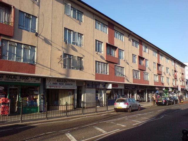 Shops and Flats, Ben Jonson Road, E1