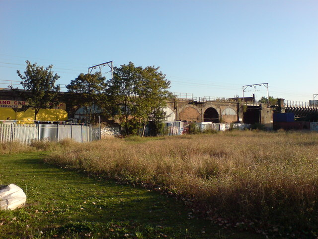 Open Ground and Railway Viaduct, Mile End