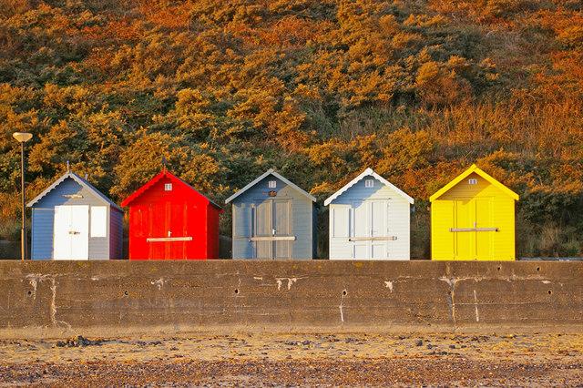 Beach Huts on Seafront, Cromer, Norfolk
