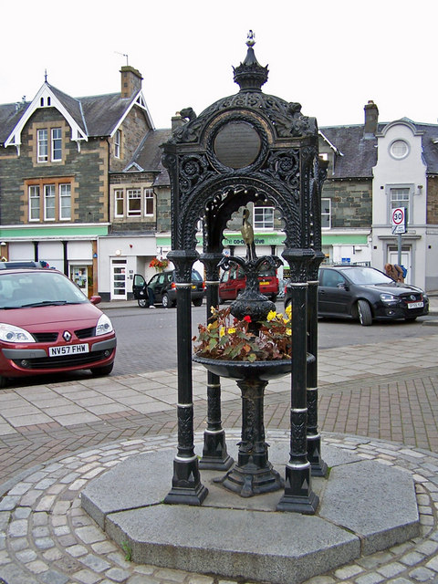 Memorial fountain, Aberfeldy