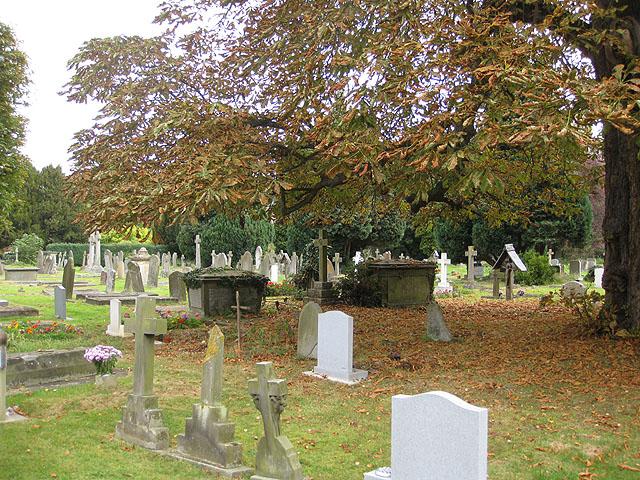 Early autumn, St Mary's churchyard, Prestbury