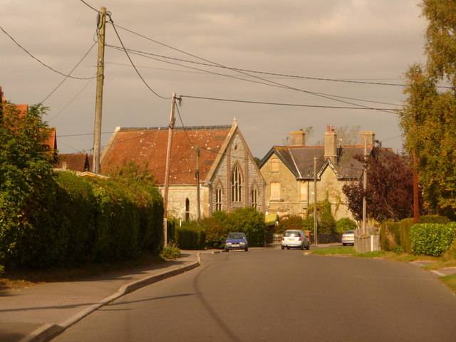 Motcombe: looking along The Street