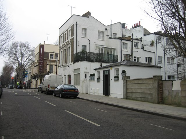 Rear view of houses in Holland Road