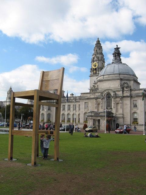 Big chair and City Hall