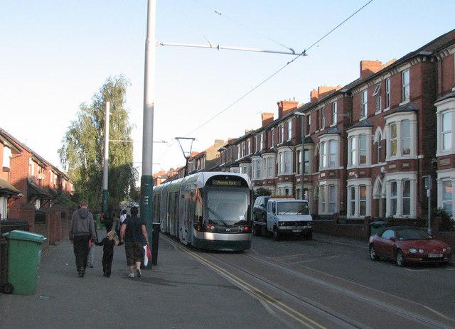 Tram on Noel Street