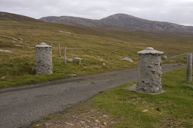Gate posts on the road to Mealasta
