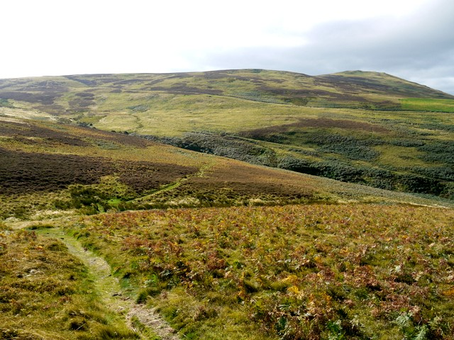 Permissive footpath south-west of Yeavering Bell