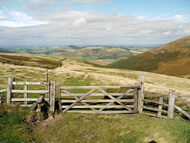 Gate on St Cuthbert's Way