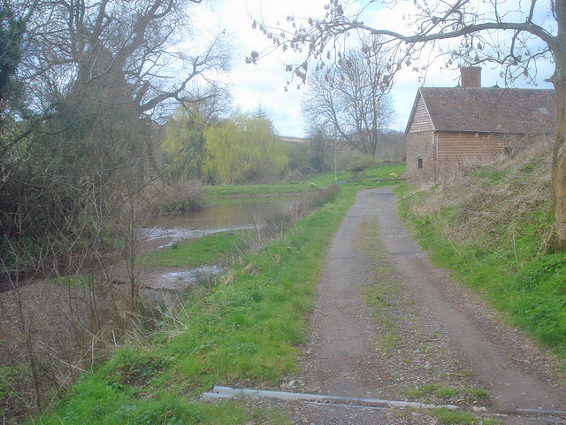 Entrance lane to Uphampton Farm - 2
