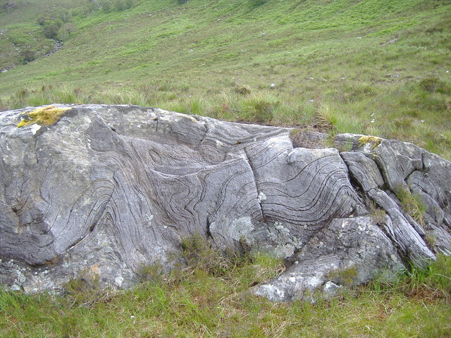 Contour lines in rock